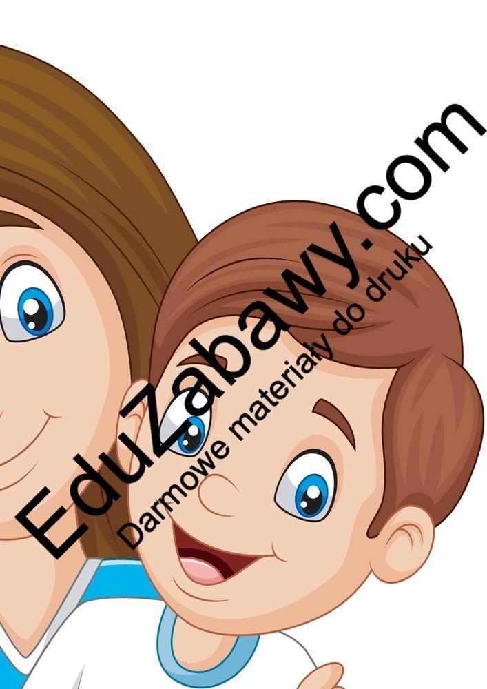 Dekoracje: mama z dziećmi XXL (6 szablonów) Dekoracje Dekoracje (Dzień Rodziny) Dekoracje XXL (Dzień Mamy)
