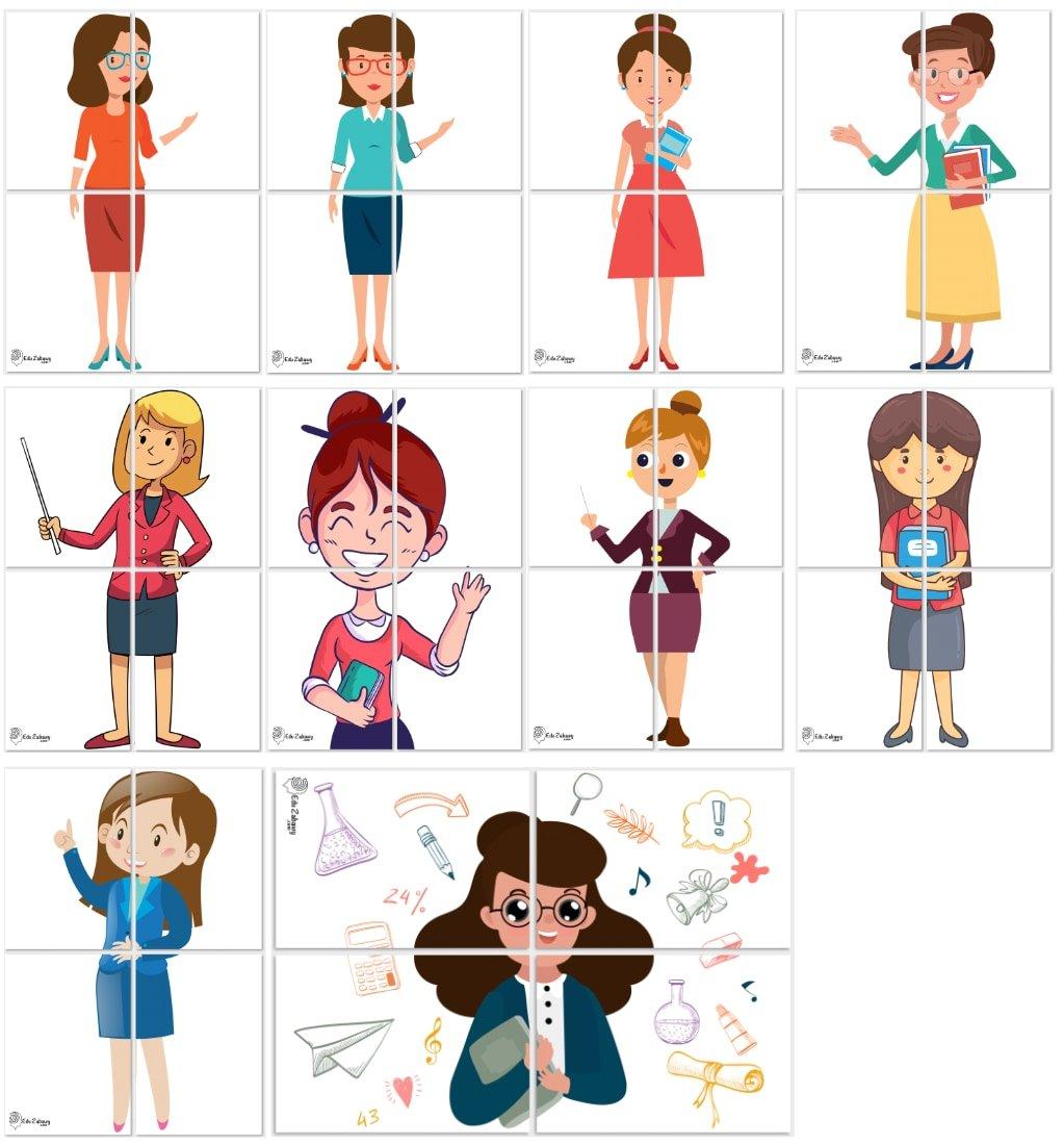 Dekoracje XXL: nauczycielka (10 szablonów) Dekoracje Dekoracje XXL (Pożegnanie przedszkola) Dekoracje XXL (Zakończenie roku)