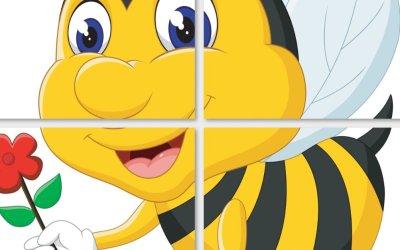 Dekoracje XXL: pszczoły (10 szablonów)