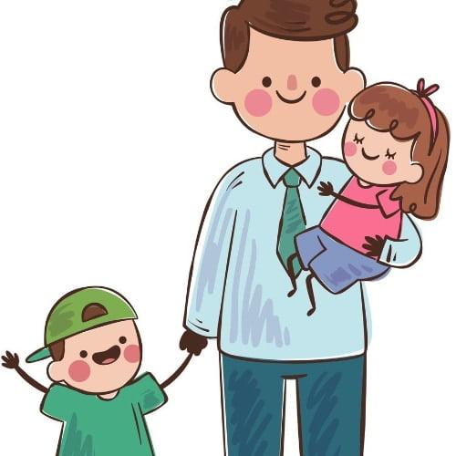 Laurki na Dzień Taty do kolorowania (10 szablonów) Dzień Taty Laurki i kartki (Dzień Taty)
