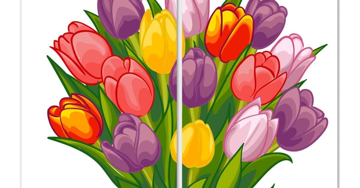 Dekoracje XXL: Tulipan (9 szablonów)