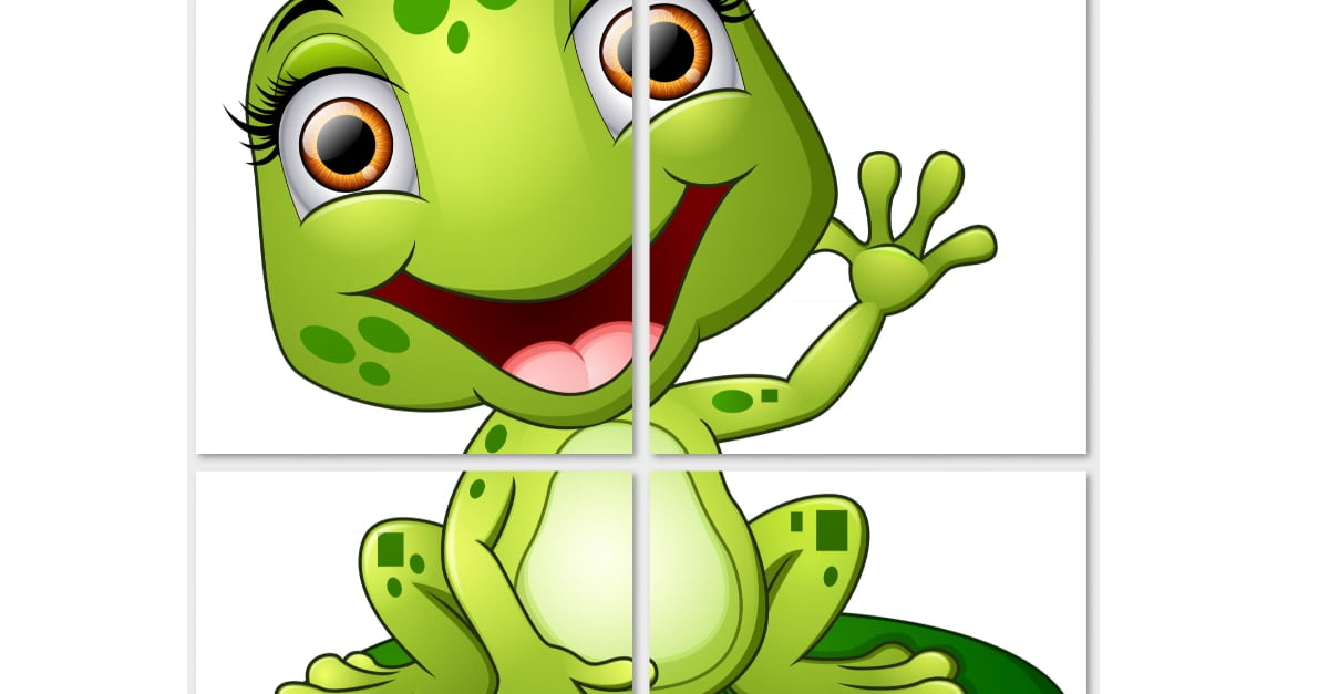 Dekoracje XXL: żaby (10 szablonów)