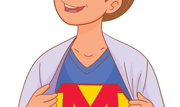 Dekoracje: super mama XXL (7 szablonów)