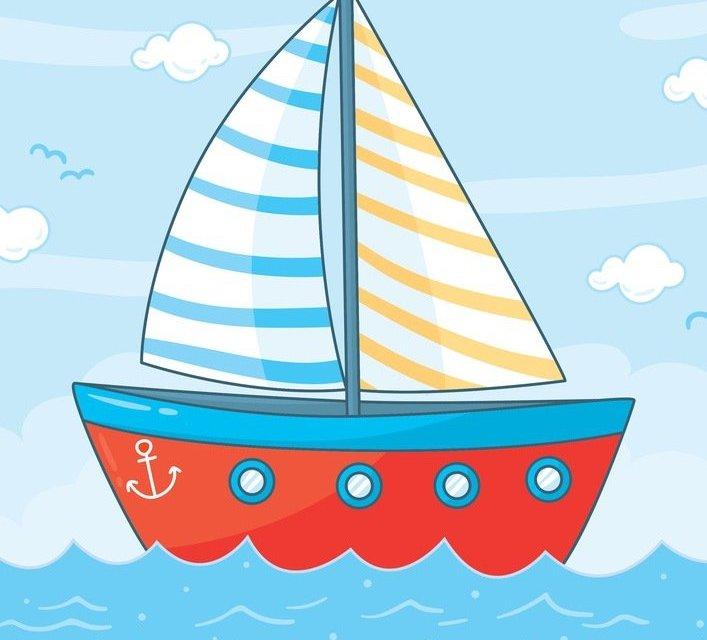 Dekoracje: łódki, koła ratunkowe (10 szablonów)