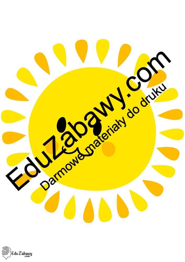 Dekoracje: Słońce (10 szablonów) Dekoracje Dekoracje (Pożegnanie przedszkola) Dekoracje (Zakończenie roku)