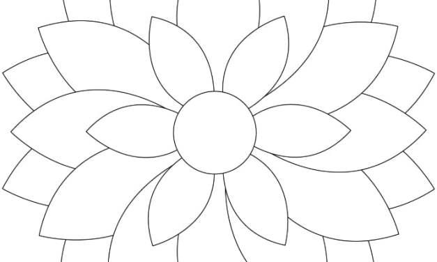 Kolorowanki: Kwiaty (9 szablonów)