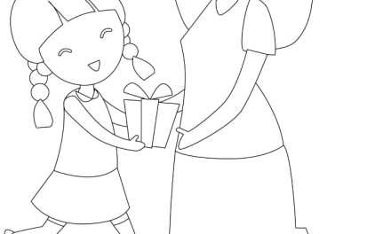 Kolorowanki: Mama z córką (8 szablonów)