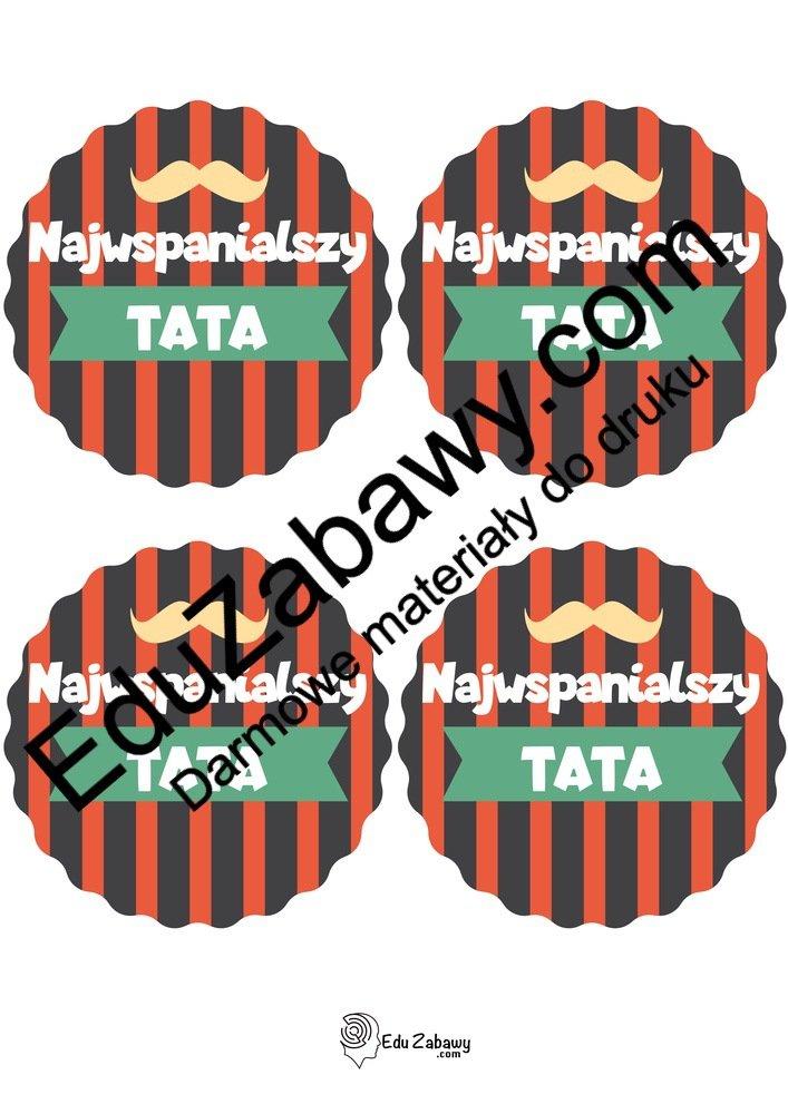 Medal Super Taty (4 szablony) Dzień Taty Odznaki (Dzień Rodziny) Odznaki i medale (Dzień Taty)
