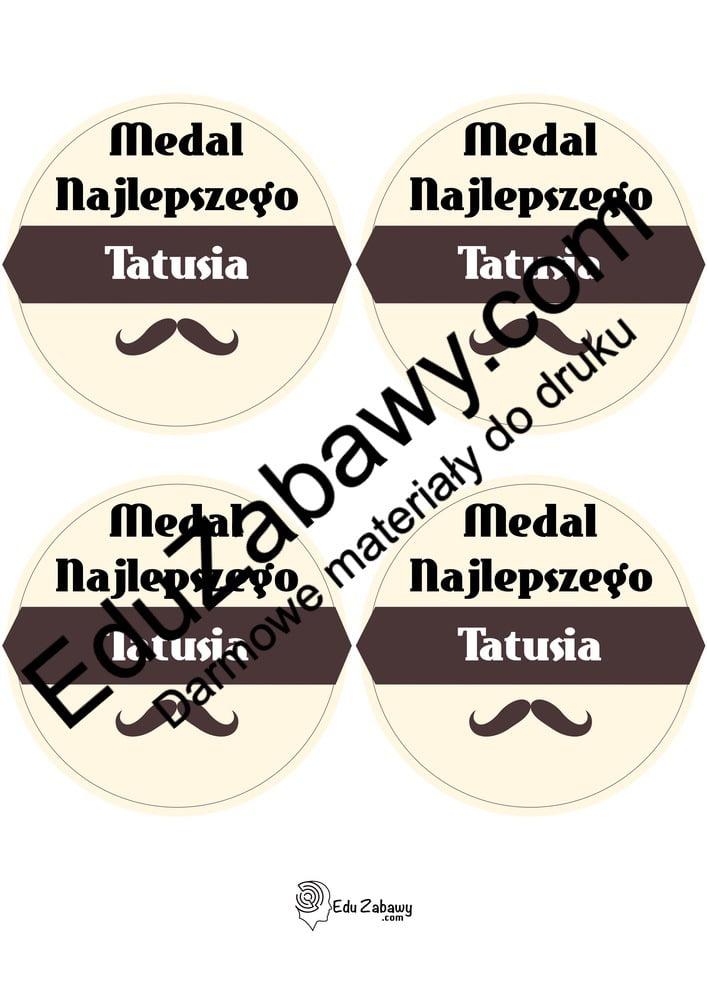 Medal najlepszego Taty (4 szablony) Dzień Taty Odznaki (Dzień Rodziny) Odznaki i medale (Dzień Taty)