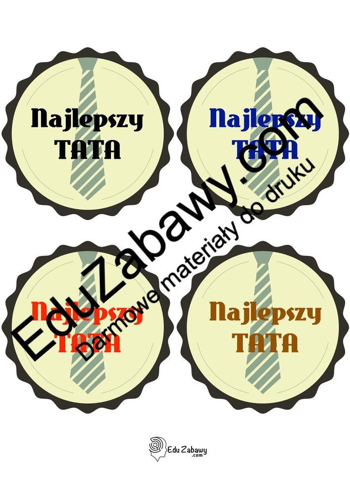 Odznaki Super Taty (5 szablonów) Dzień Taty Odznaki i medale (Dzień Taty)