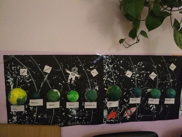 Kosmos Aneta Grądzka-Rudziak Dzień Kosmosu Prace plastyczne