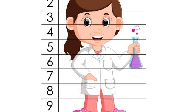 Dzień Chemika: Puzzle: 10 elementów (10 kart pracy)