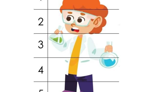 Dzień Chemika: Puzzle: 5 elementów (10 kart pracy)