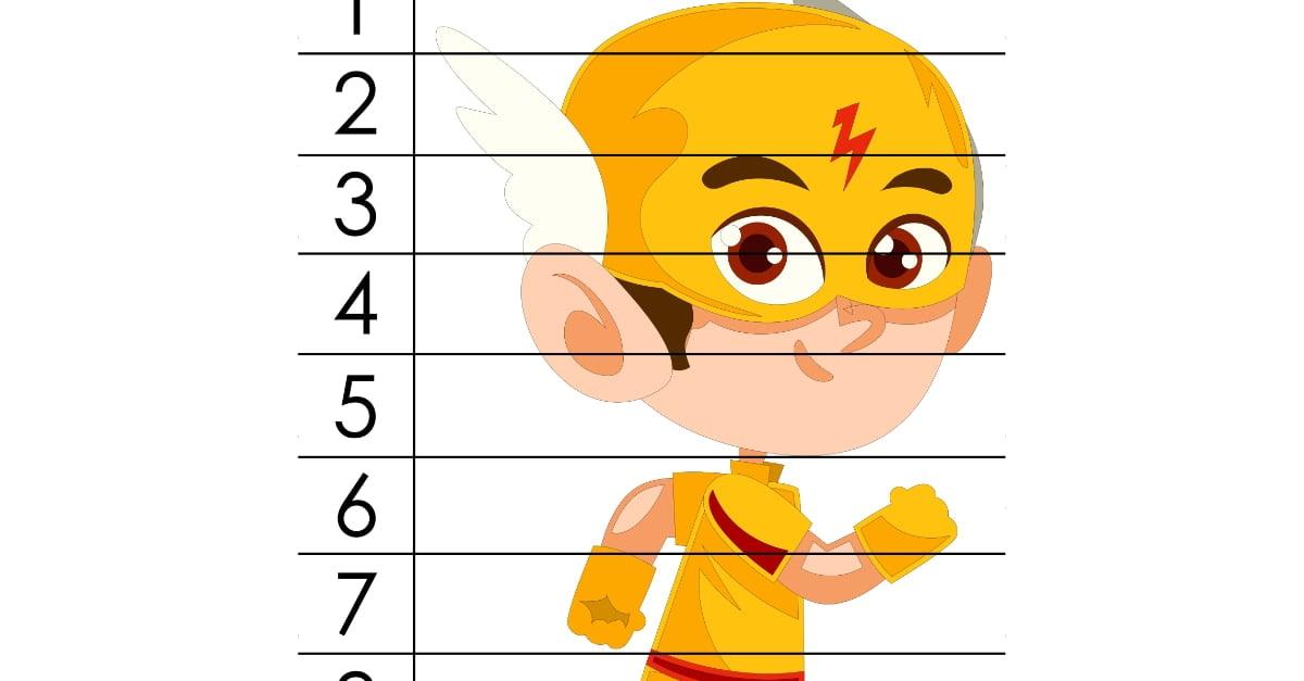 Dzień Chłopaka: Puzzle 10 elementów (10 kart pracy)