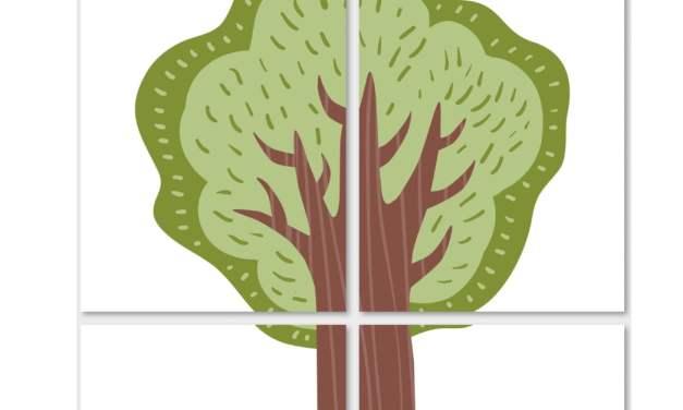 Drzewa: Dekoracje XXL (10 szablonów)