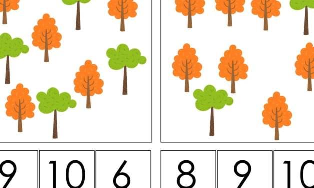 Dzień Drzewa: Matematyka klamerkowa (40 kart pracy)