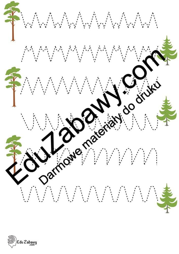 Dzień Drzewa: Szlaczki (10 kart pracy) Dzień Drzewa Karty pracy Karty pracy (Dzień drzewa) Szlaczki