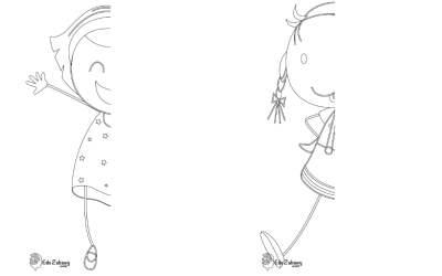 Dzień Dziewczynek: Dokończ obrazek (10 kart pracy)