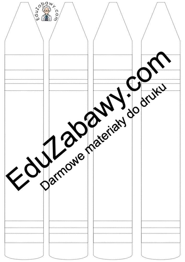 Dzień Kredki: Grafomotoryka (10 kart pacy) Dzień Kredki Grafomotoryka Karty pracy Karty pracy (Dzień kredki)