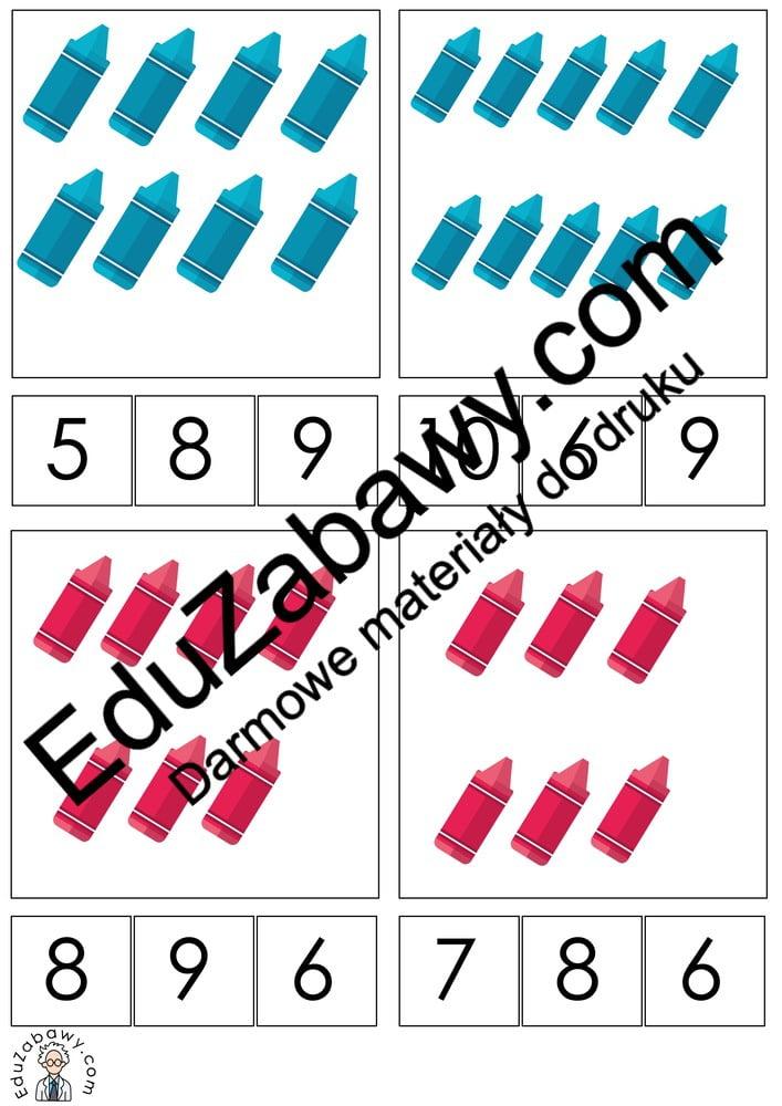 Dzień Kredki: Matematyka klamerkowa (40 kart pracy) Dzień Kredki Karty pracy Karty pracy (Dzień kredki) Matematyka klamerkowa
