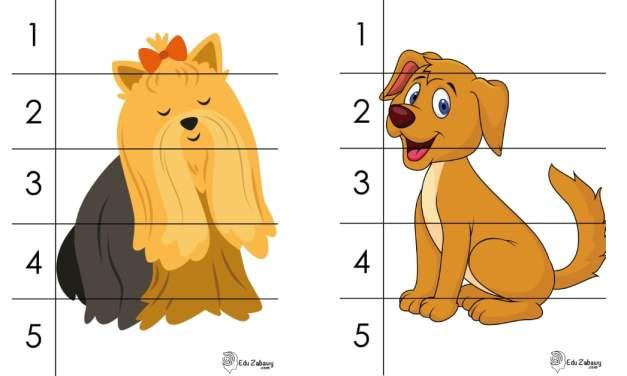 Dzień Kundelka: Puzzle 5 elementów (10 kart pracy)