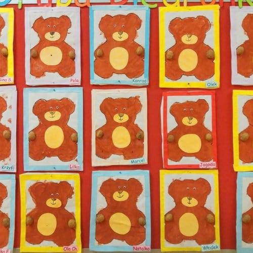 Miś z płyty CD Aneta Grądzka-Rudziak Prace plastyczne Prace plastyczne (Dzień misia) Prace plastyczne (Dzień Zwierząt) Zwierzęta (Prace plastyczne)