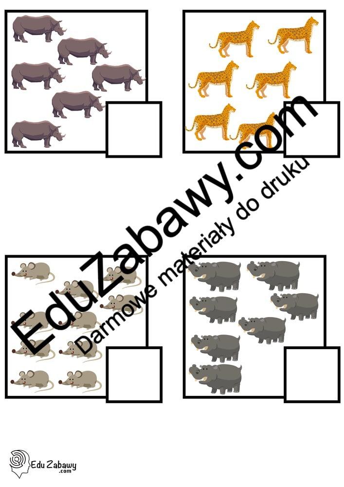 Dzień Zwierząt: Policz obrazki (10 kart pracy) Karty pracy (Dzień Zwierząt) Policz obrazki Światowy Dzień Zwierząt
