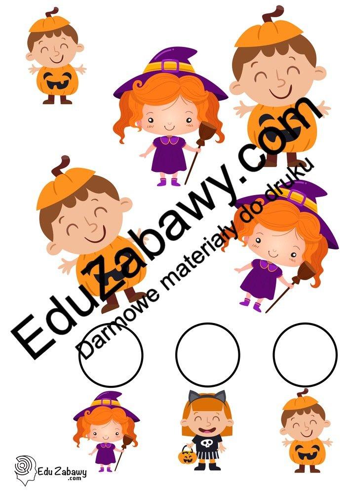 Halloween: Bystre oczko (10 kart pracy) Bystre oczko Karty pracy Karty pracy (Halloween / Święto dyni) Święto Dyni / Halloween