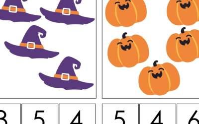Halloween: Matematyka klamerkowa (40 kart pracy)