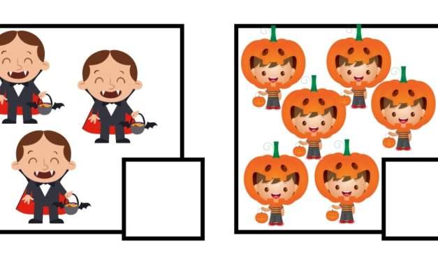 Halloween: Policz obrazki (10 kart pracy)
