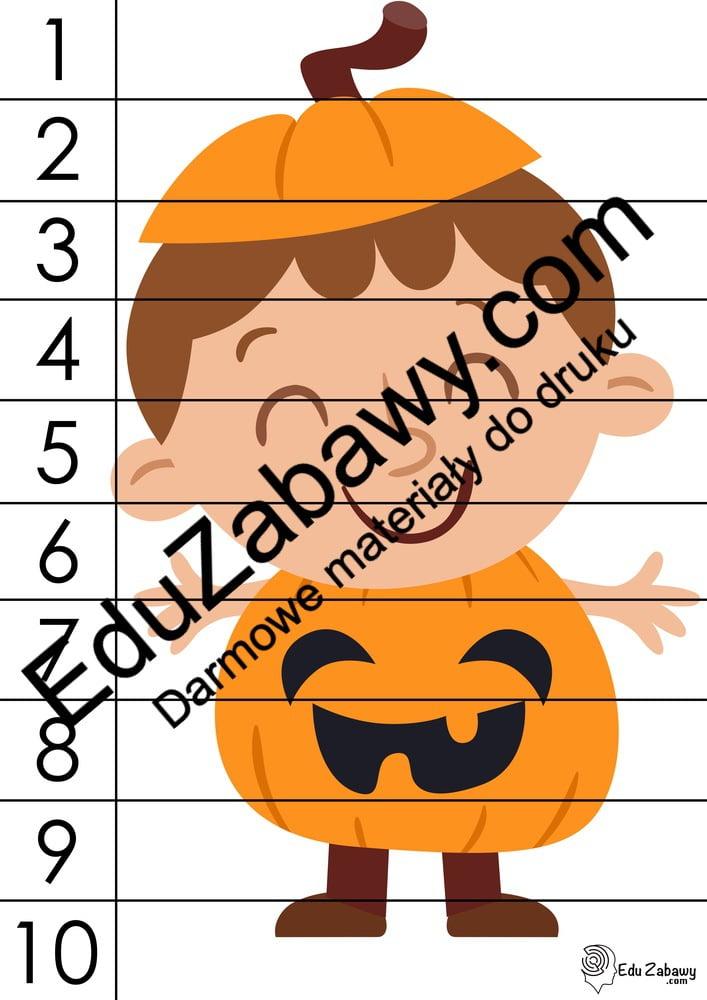 Halloween: Puzzle 10 elementów Karty pracy Karty pracy (Halloween / Święto dyni) Puzzle Święto Dyni / Halloween
