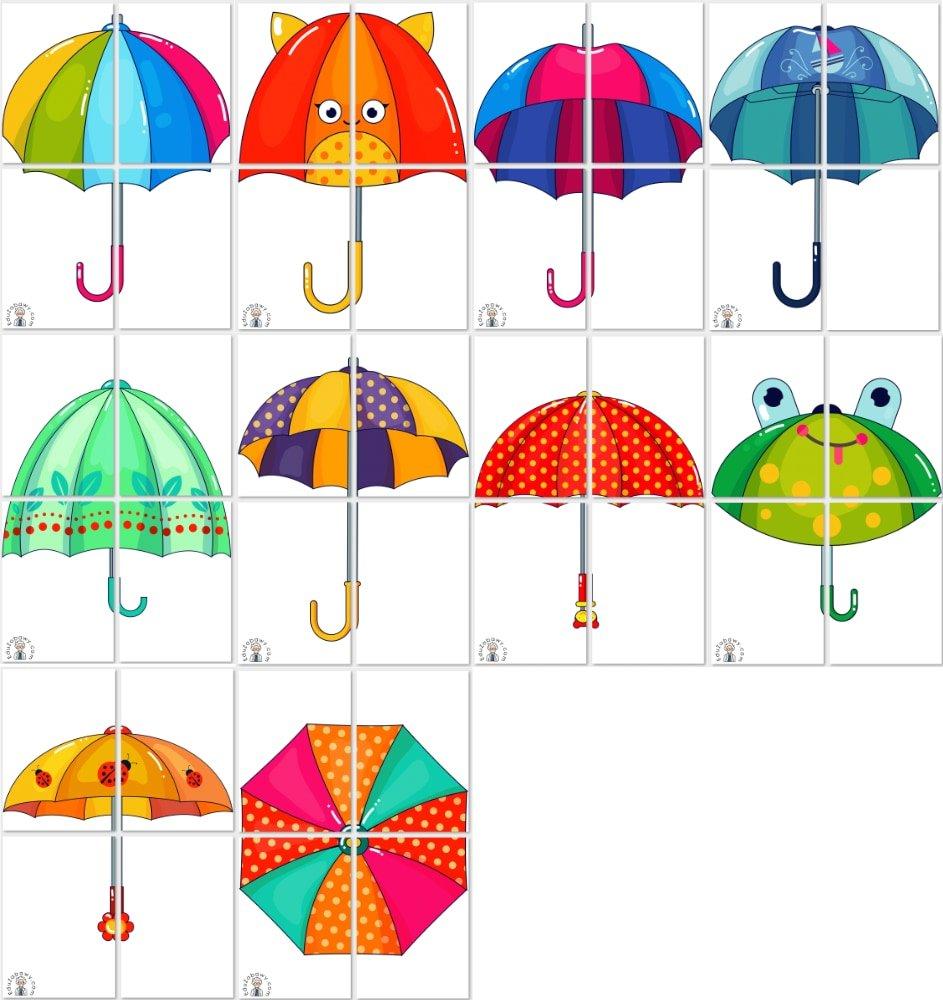 Dekoracje XXL: Parasolki (10 szablonów) Dekoracje Dekoracje (Jesień) Dekoracje (Wiosna)