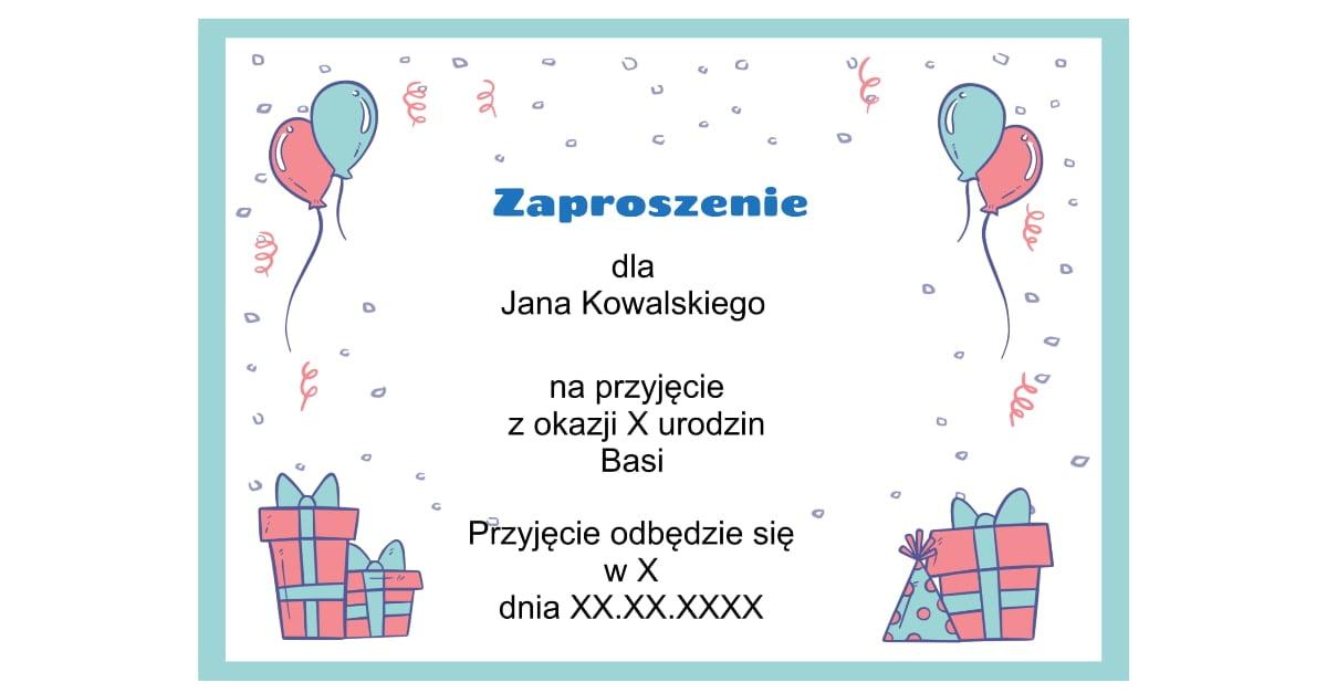 Generator zaproszeń urodzinowych
