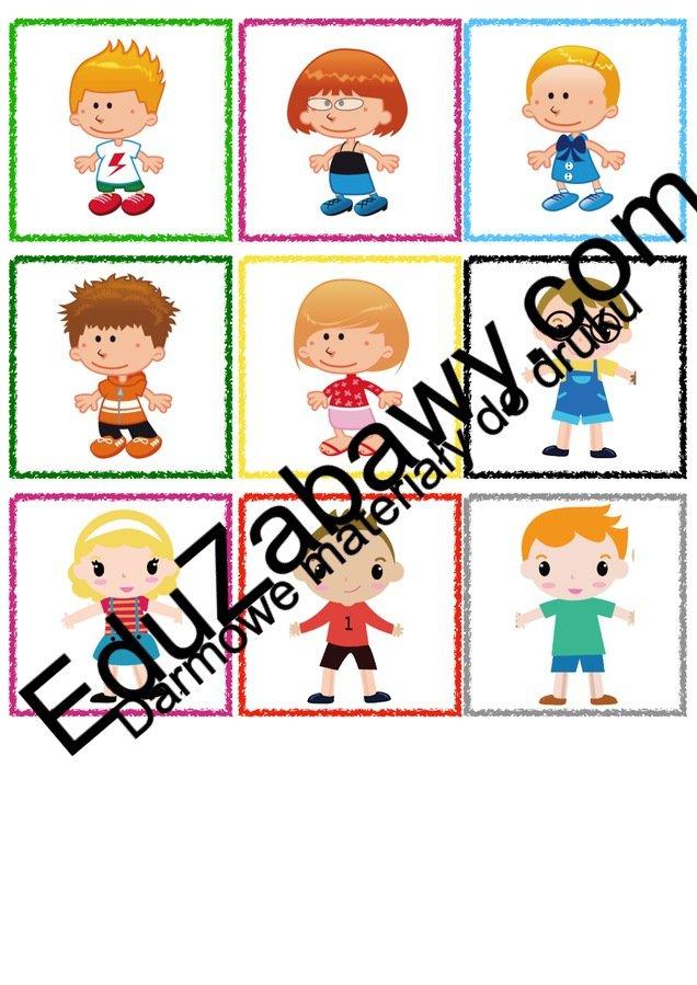 Znaczki przedszkolne - Dzieci Kalendarz świąt Powitanie przedszkola Wrzesień Znaczki na szafki / etykiety