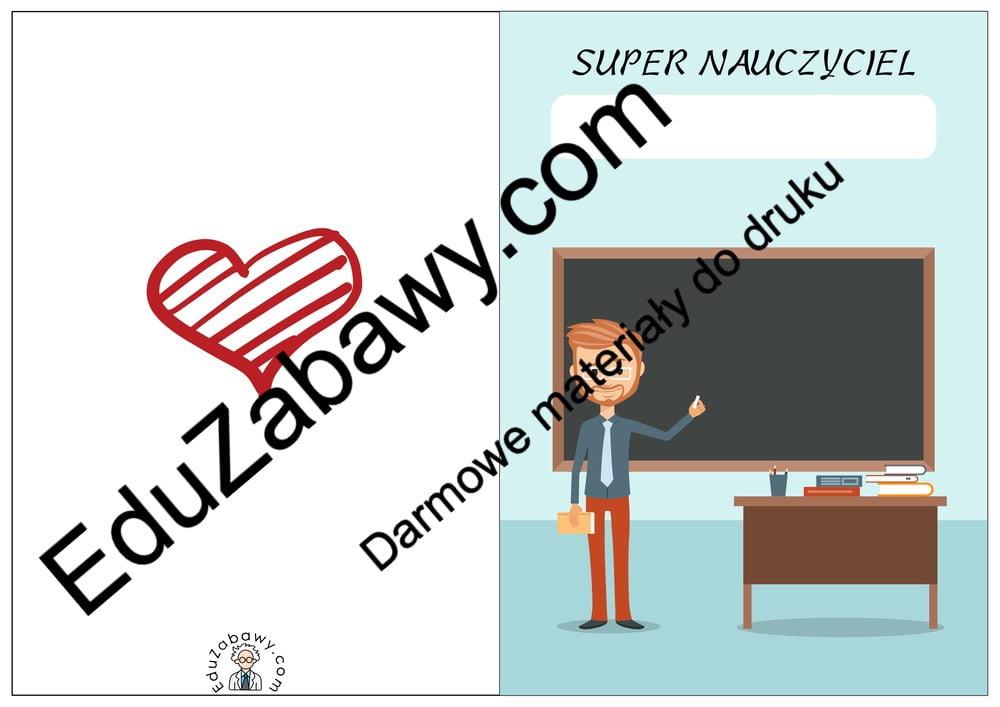 Laurki Super Nauczyciel Dzień Edukacji Narodowej Laurki (Dzień Edukacji Narodowej)