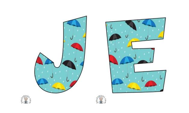 Napis Jesień – parasole