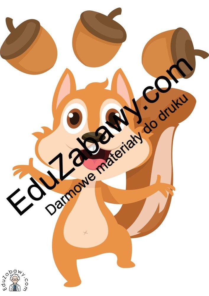 Dekoracje: Wiewiórki (10 szablonów) Dekoracje Dekoracje (Jesień)