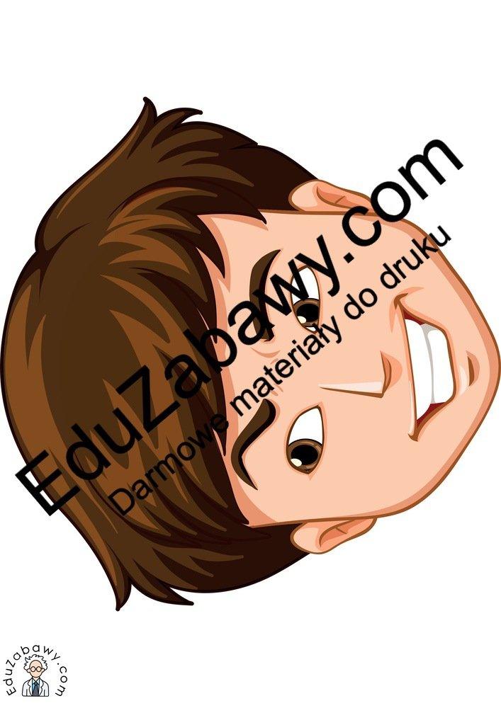 Dekoracje: Emocje - chłopak (9 szablonów) Dekoracje Dzień Pozytywnego Myślenia Dzień Szczęścia Dzień Uśmiechu