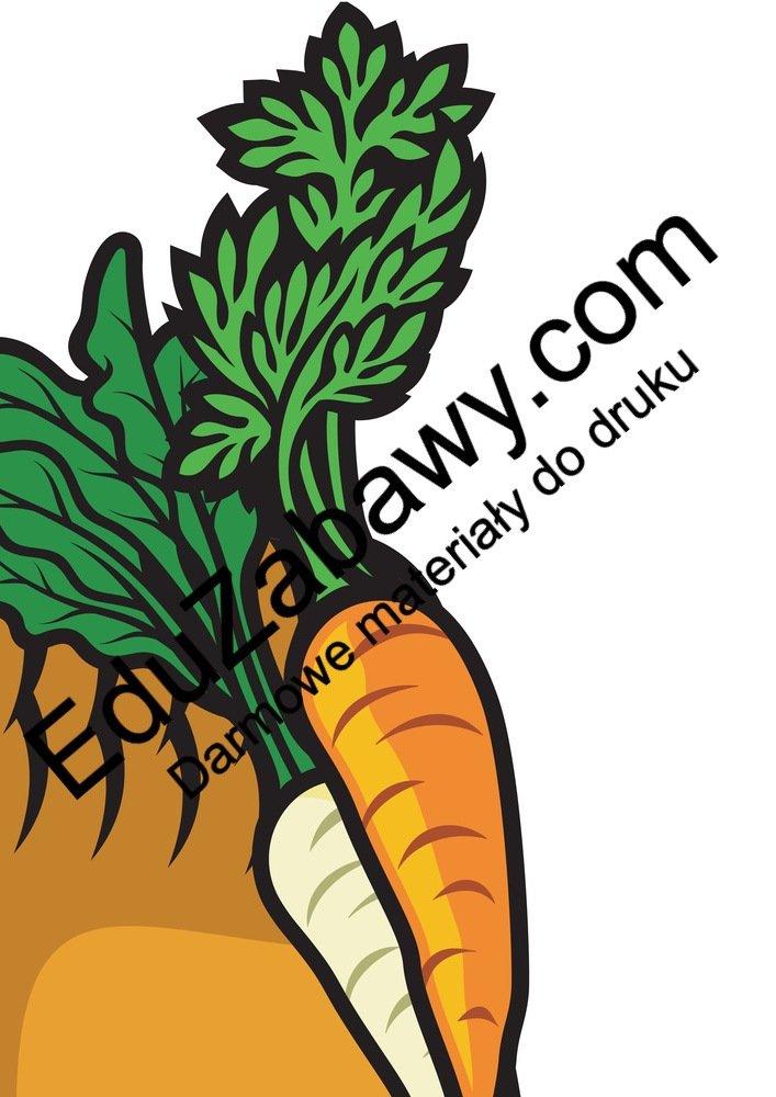 Dekoracje XXL: Koszyk z owocami i warzywami (7 szablonów) Dekoracje Dekoracje (Jesień)