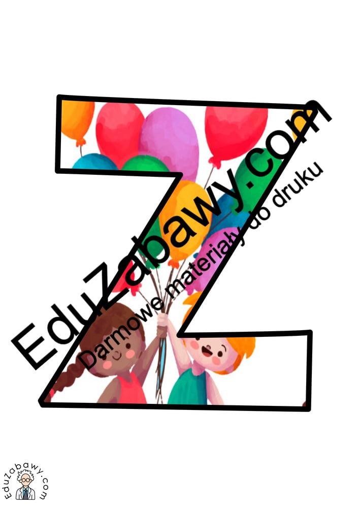 Napis Dzień Przedszkolaka: wzór w balony Dzień Przedszkolaka Napisy (Dzień Przedszkolaka)