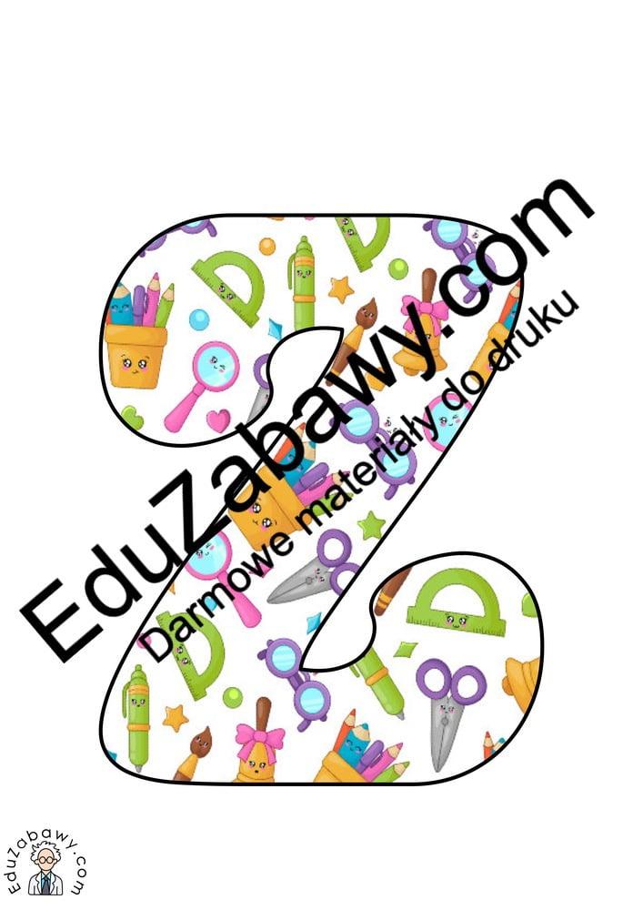 Napis Dzień Przedszkolaka: wzór w przybory szkolne Dzień Przedszkolaka Napisy (Dzień Przedszkolaka)