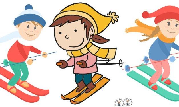 Dekoracje: Dzieci na nartach