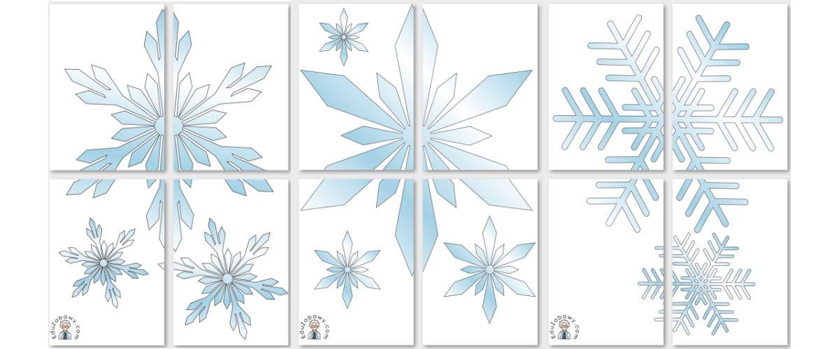 Dekoracje XXL: Płatki śniegu