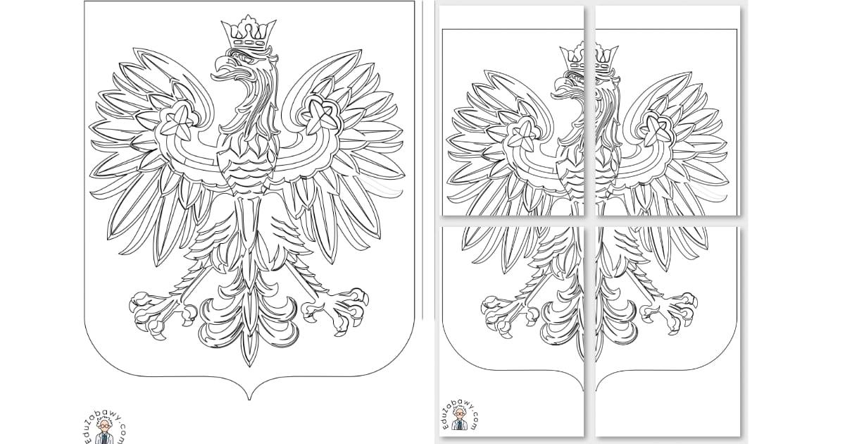 Kolorowanki: Godło (A4 i XXL)