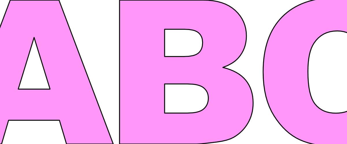Różowe litery duże