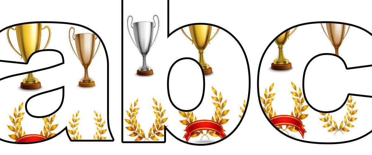 Trofea: litery małe