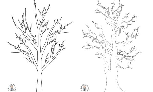 Jesień: szablon drzewa