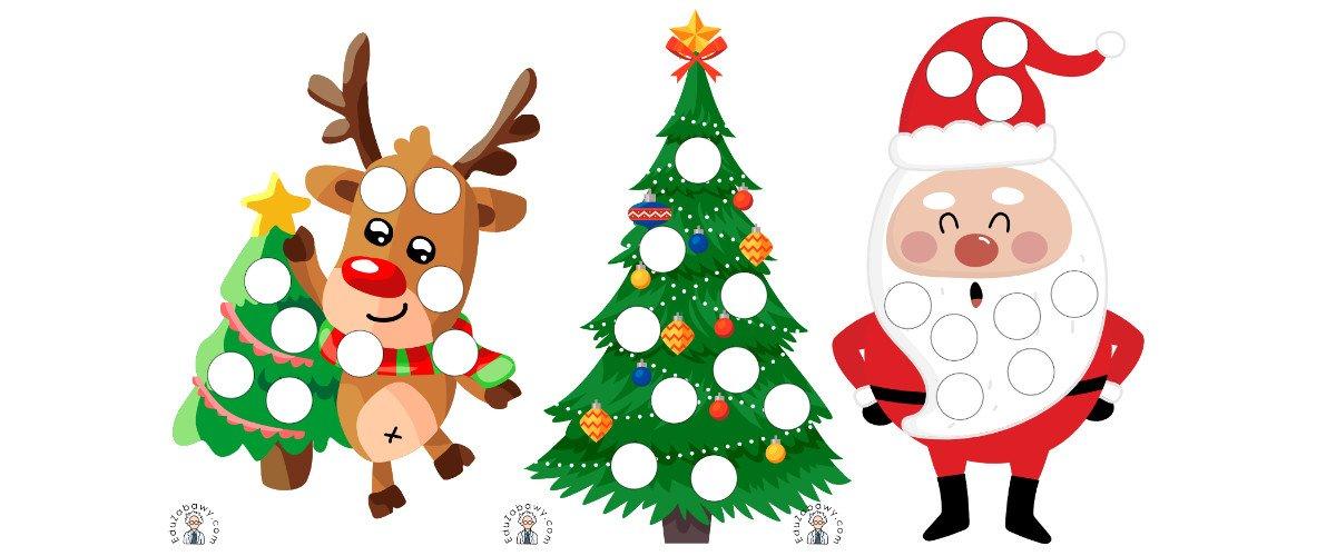 Boże Narodzenie: Wypełnij kolorem (10 szablonów)