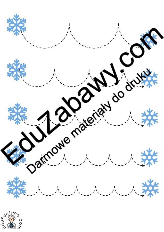 Zima: Szlaczki (10 kart pracy) Karty pracy Karty pracy (Zima) Szlaczki Zima