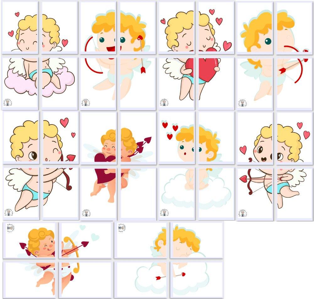 Dekoracje XXL: Amorek (10 szablonów) Dekoracje Dekoracje (Walentynki) Walentynki